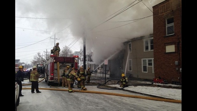 Fire Rips Through Buildings on 26th and German