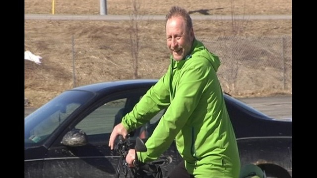 Cancer Survivor Biking More than 132,000 miles Stops in Erie