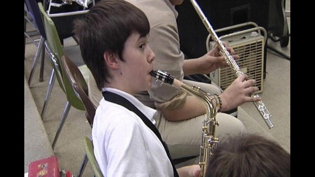 Wilson Middle School Gets New Band Instruments