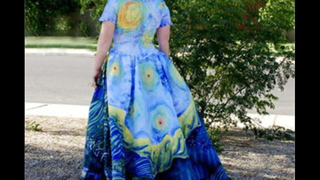 DIY: Paint your own recycled gown