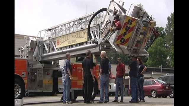 Three Firefighters Injured in Truck Ladder Accident