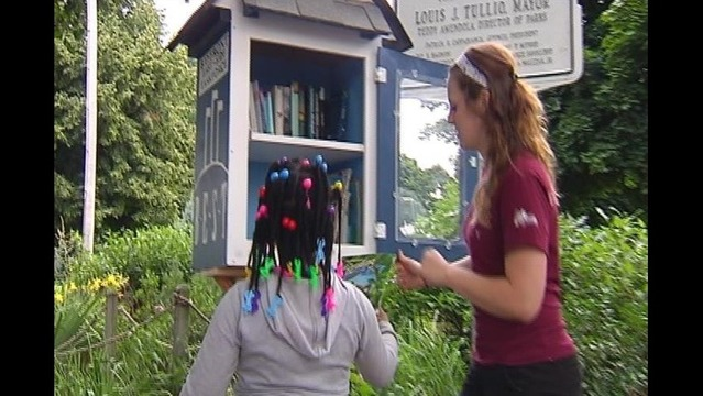 Little Library Unveiled at Park
