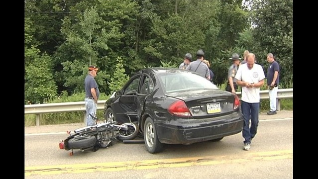 Motorcyclist Injured After Slamming Into Car