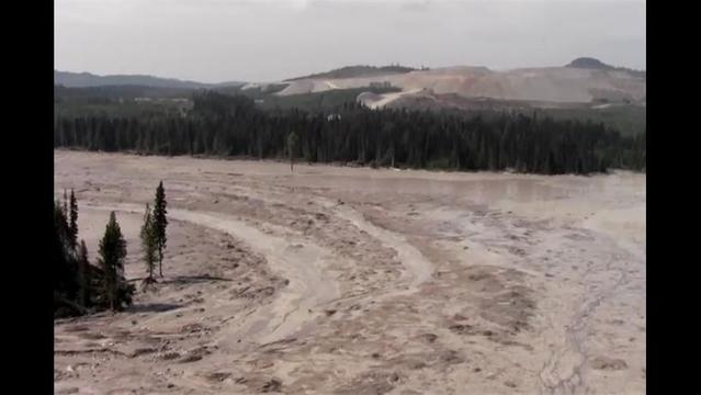 Toxic mining sludge pours into a pristine lake and streams in Canada