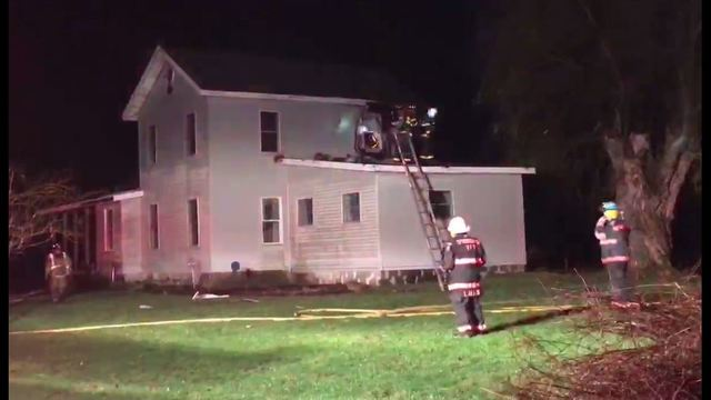 Fire Department Fights Possible Lightning-Caused Fire In Springboro Home