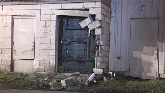 Car slams into Lakeview Forge Co.