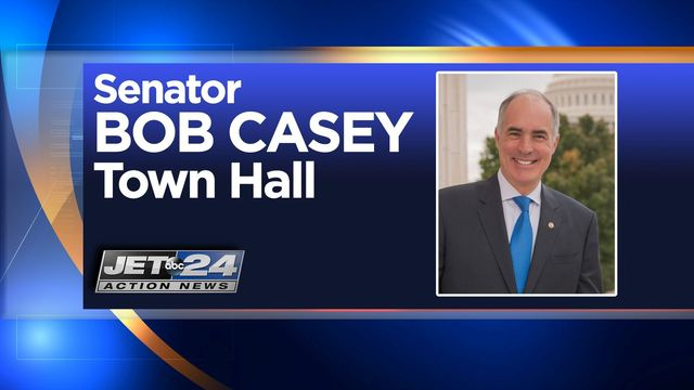 Live Town Hall with Sen. Bob Casey to air on WJET
