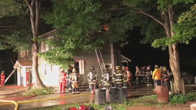 Fire damages home near Cambridge Springs