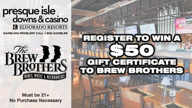 Presque Isle Downs & Casino Brew Brothers Gift Card Giveaway