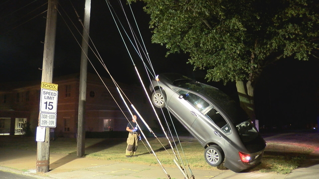 No Injuries In Unusual Accident