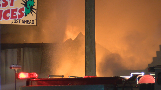 Fire reported at Erie warehouse