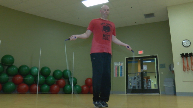 Man jump ropes for three hours to raise money for SafeNet