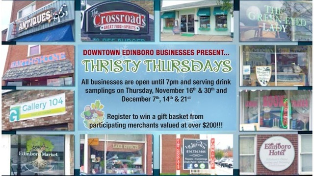 Edinboro Businesses Thirsty Thursdays