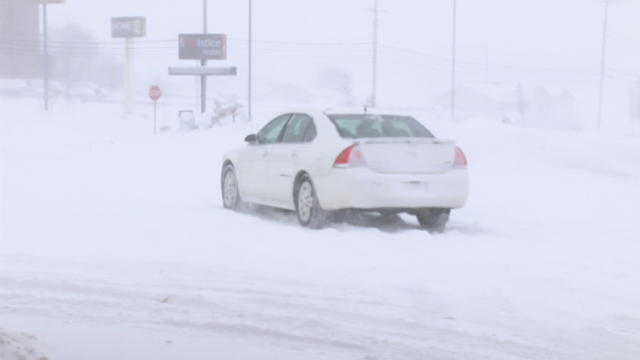 Holiday travelers braving the winter weather
