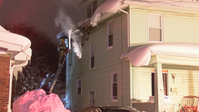 Fire Consumes Second Story on Liberty Street Home