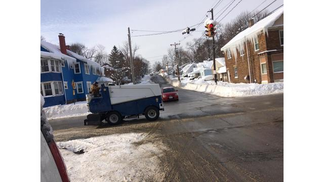 Zamboni Cruises Down the Street