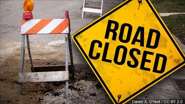 Route 8 closed in Erie County