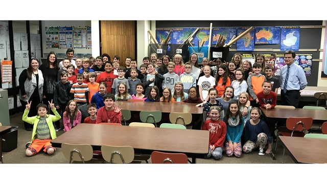 Middle school students make tribute video for the Toms!
