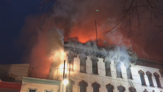 Heavy fire rips through another Titusville building