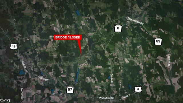 Wattsburg Road Bridge in Erie County closed until late April