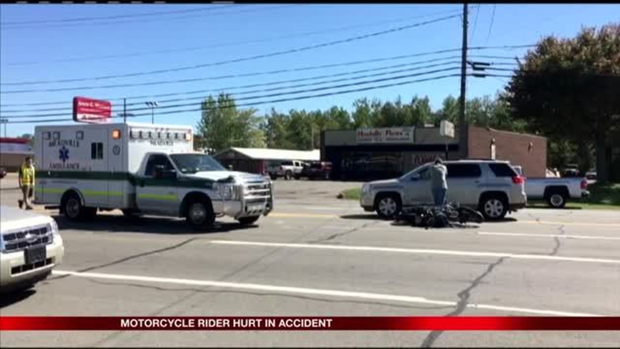 Crawford County accident sends motorcyclist to the hospital