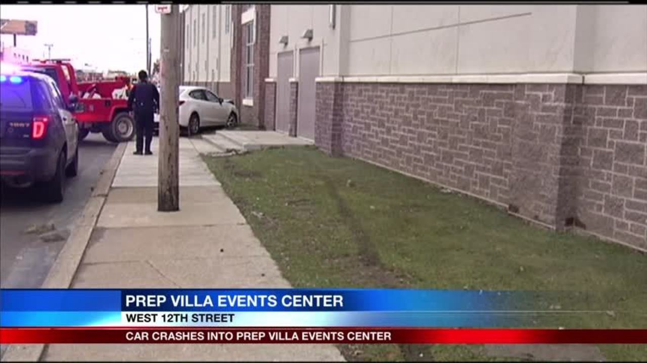 Car crashes into Prep-Villa Events Center