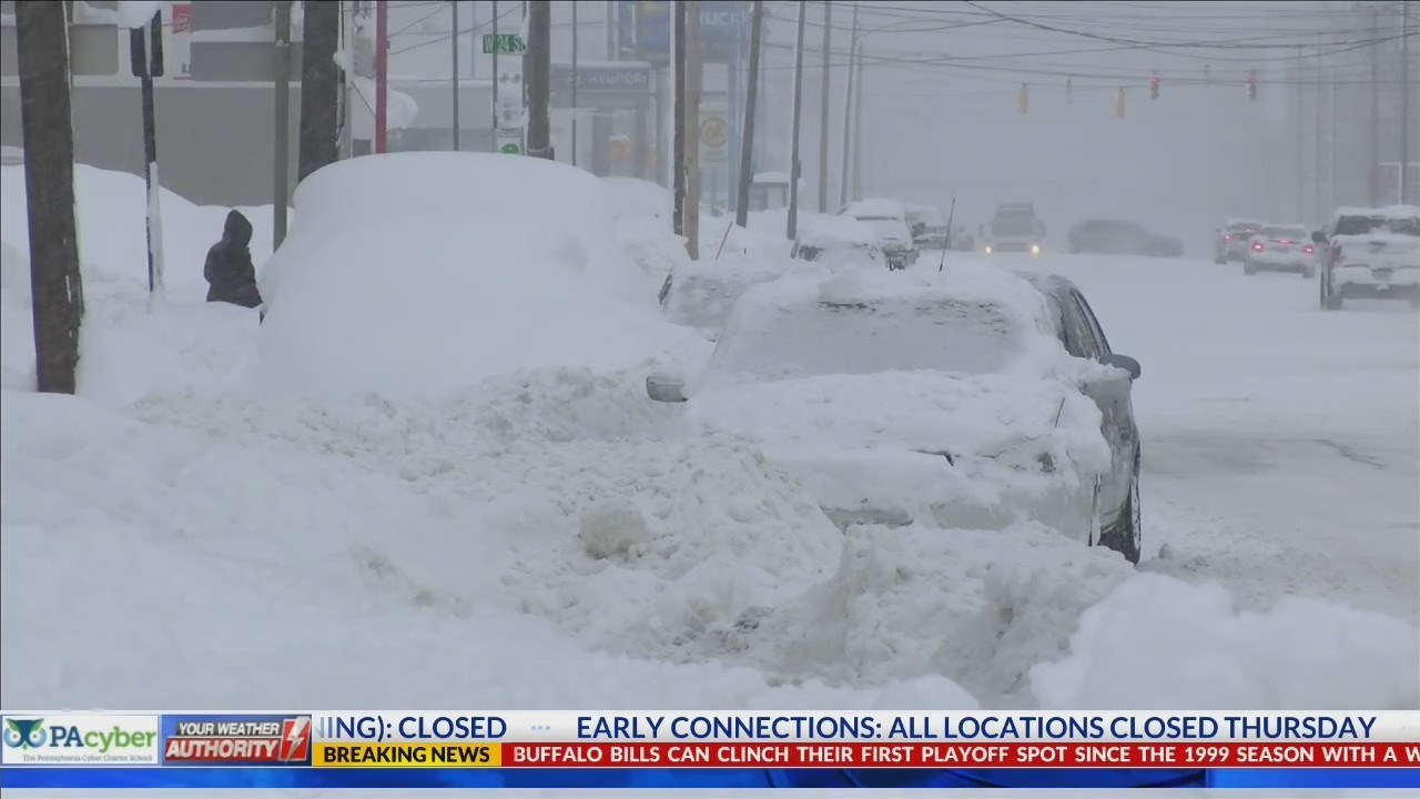 Snow removal efforts slowed by cars parked on the roads
