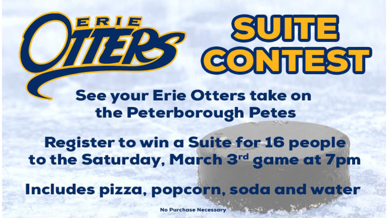 Erie Otters – Suite Giveaway