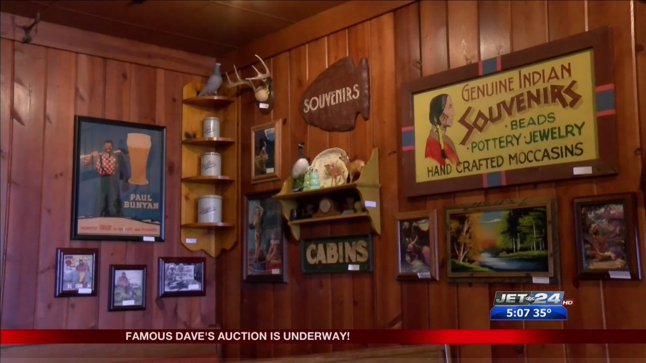 Famous Daves auction tonight!