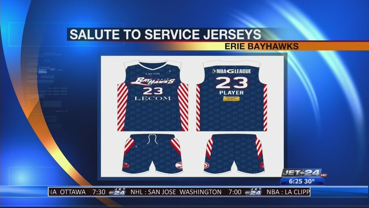 337fcdc5a70 BayHawks Unveil Salute to Troops Game Jerseys