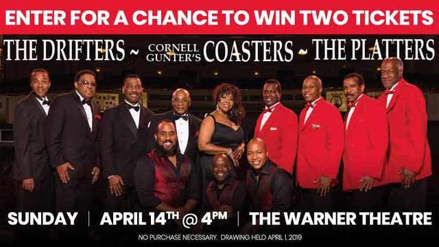 Hall of Fame Legends Drifters, Coasters, Platters Ticket Sweepstakes